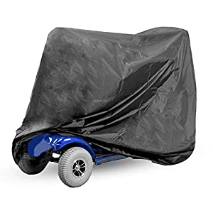 Mobility Scooter Cover   Wheelchair & Scooter Storage Protective Cover   Waterproof Protection for Disability Scooters   Outdoor Rain Cover   Pukkr
