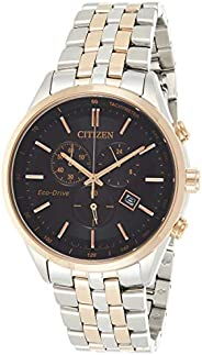 CITIZEN Mens Solar Powered Watch, Analog Display and Stainless Steel Strap AT2144-54E