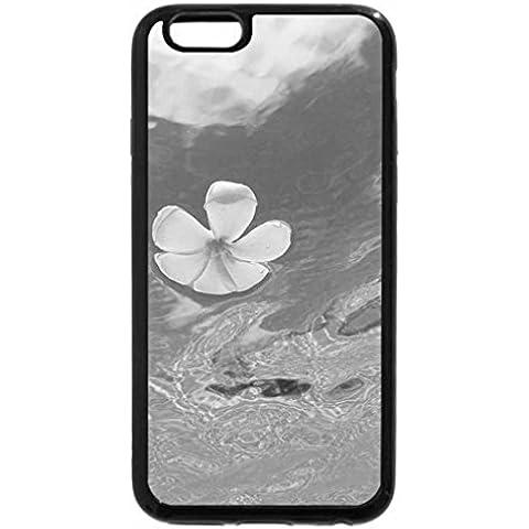 6S iPhone, iPhone 6 (nero & bianco-bianco Plumeria