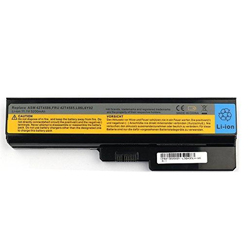 Preisvergleich Produktbild Laptop Akku Batterie für Lenovo IBM 3000 G430 G530 G450 G550 N500 IdeaPad V460 Z360 B460 121000723 121000791 121000792 121000793 42T2722 Li-ion 6 Cell 11.1v 5200mAh / 58wh 12 Monate Garantie.
