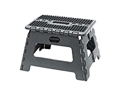 Folding Step Stool Tools, Metallic Grey