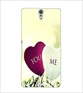 PrintDhaba Hearts D-2393 Back Case Cover for SONY XPERIA C5 ULTRA (Multi-Coloured)