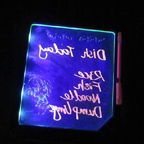 Jasnyfall LED Message Board LED Schreibtafel LED-Anzeige Fluoreszenz-Platte mit einem Textmarker frei zu schreiben, Keine Batterie (transparent) -