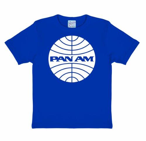 logoshirt-pan-am-tee-shirt-mixte-enfant-bleu-royal-18-m