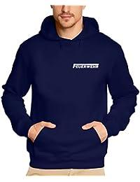 FEUERWEHR reflektierender Druck Sweatshirt mit Kapuze HOODIE Gr.S M L XL XXL 3XL