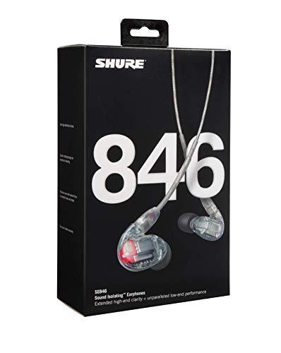 Shure SE846-CL Professionellen Ohrhörer mit Sound-Isolating-Design, vier High-Definition-MicroDrivern und transparentem Kabel mit 3,5-mm-Klinken für definierte Höhen und echte Subwoofer-Leistung - 7