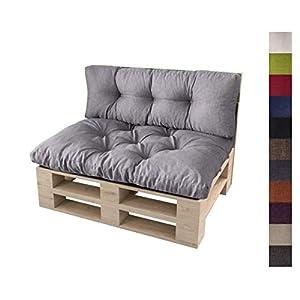 sunnypillow Palettenkissen 5er Set für Europaletten Indoor und Outdoor Palettenpolster Palettensofa Kissen mit schöner…