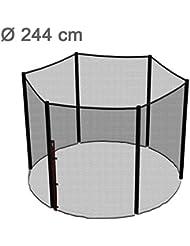 Ampel 24 Trampolin Sicherheitsnetz | Ersatznetz 244 cm für 6 Pfosten | UV-beständig | extrem reißfest | Netz außenliegend