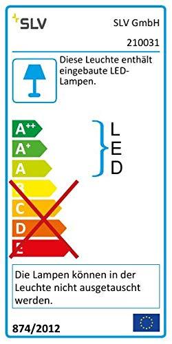 SLV LED Büro-Beleuchtung dimmbar, höhenverstellbar, Blendfreie Büro-Beleuchtung, Arbeitszimmer-Deckenleuchte, Hänge-Lampe Büro, Arbeitsplatz-Beleuchtung, Panel, Kaltweiß 4000K, LED Inside, EEK A++