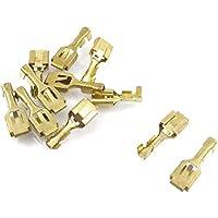 10 piezas de 6.3mm Crimp Terminal de conector hembra Cable Spade