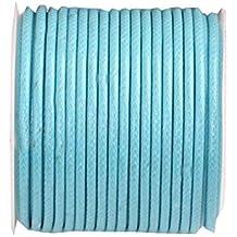 (2mm) 32ft Rotonda Corda in pelle Cord Corda per bracciale collana Making - B