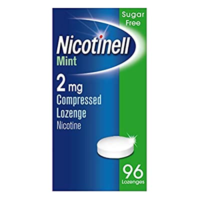 Nicotinell Nicotine Lozenges, Stop Smoking Aid, 2 mg, Sugar Free, Mint, 96 Pieces by GSK Consumer Healthcare Trading (UK) Ltd
