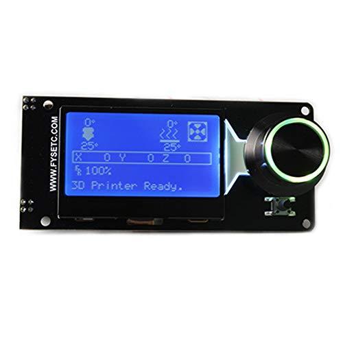 LCD-Controller 12864 Vollgrafik Smart Professional Teile Ersatz-Panel mit Kartensteckplatz LED-Hintergrundbeleuchtung Elektronik-Display 3D-Druckerzubehör(C) -
