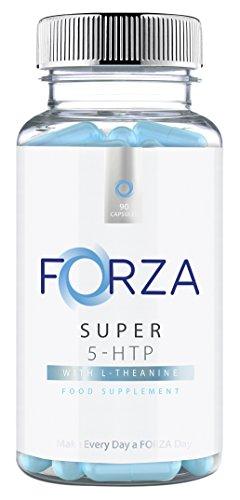 FORZA Super 5-HTP 200mg - Reforzador del estado de ánimo y del sueño - Mina de 90 Cápsulas
