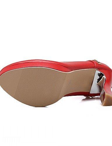 WSS 2016 Chaussures Femme-Bureau & Travail / Habillé / Décontracté-Rose / Rouge / Blanc-Talon Aiguille-Talons-Talons-Similicuir white-us5 / eu35 / uk3 / cn34