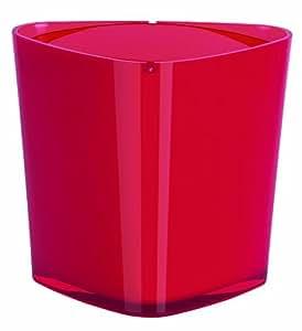 Spirella trix acrylique poubelle rouge for Deco salle de bain trackid sp 006