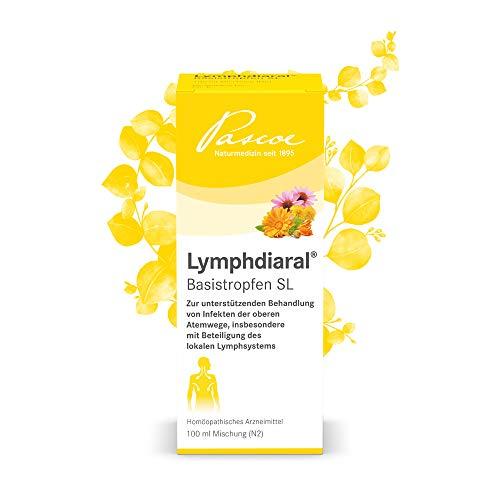 Pascoe® Lymphdiaral Basistropfen SL: für das Lymphsystem - bei Infekten - natürliches Arzneimittel u. a. mit Ringelblume (Calendula) - laktosefrei, glutenfrei, zuckerfrei - ab 1 Jahr - 100 ml -