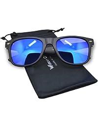 WHCREAT Wayfarer Unisex Polarized Sunglasses Spring Hinge Matte Frame UV 400 Protection Lens (Mirror Coloured Lens Available)