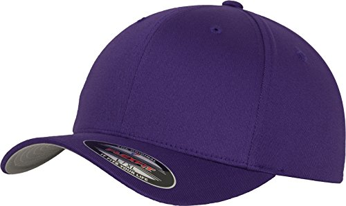 Flexfit Unisex-Erwachsene Wooly Combed 6277 Mütze, Violett (purple), L/XL -