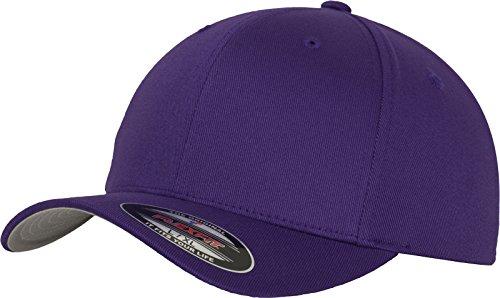 Flexfit 6277 Wooly Unisex Combed Cap, Purple, Youth (Erwachsenen-kind-beanies)
