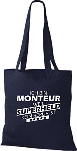 Tote Bag Shirtstown Sono Un Montatore Perché Il Supereroe Non È Una Professione Marina