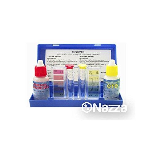 Tamar–Test Kit Chlor und pH Messgerät des Chlor und pH-Wert des Wasser-Pool, Tropfen.