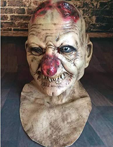 Beängstigend Joker - VAWAA Beängstigend Joker Latex Maske Clown