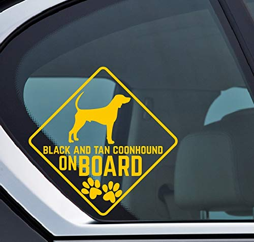 Black and Tan Coonhound on board Aufkleber, Hund an board, Dog on board, Sticker Auto, Dog, Hund, Puppy, Type A -