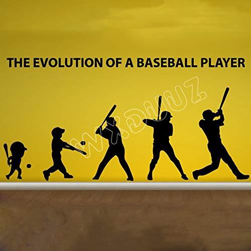 haochenli188 Kunst Dekor Wohnkultur Evolution Baseballschläger Handschuh Sport rs Kindergarten Kinderzimmer Aufkleber Hohe Qualität rs 39x90 cm