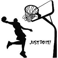 Bluelover Just Do It pallacanestro decalcomania della parete fai da te rimovibili Home Sport camera decorazione della parete della carta da parati di arte - Pallacanestro Carta