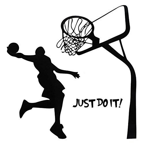 Bluelover Just Do It Baloncesto Pared Calcomanía Bricolaje Hogar Deportes Extraíble Habitación Pared Pegatina Wallpaper Art Decó