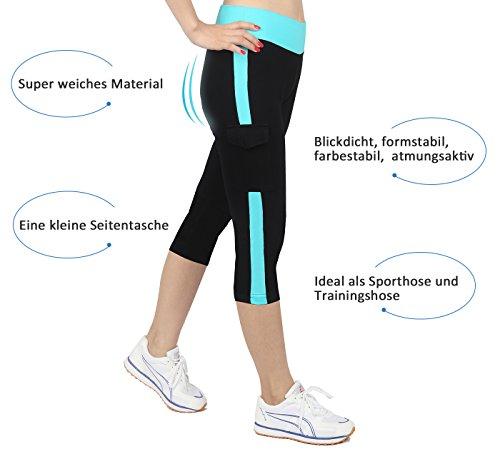 hosen damen Schwarz&blau Sport