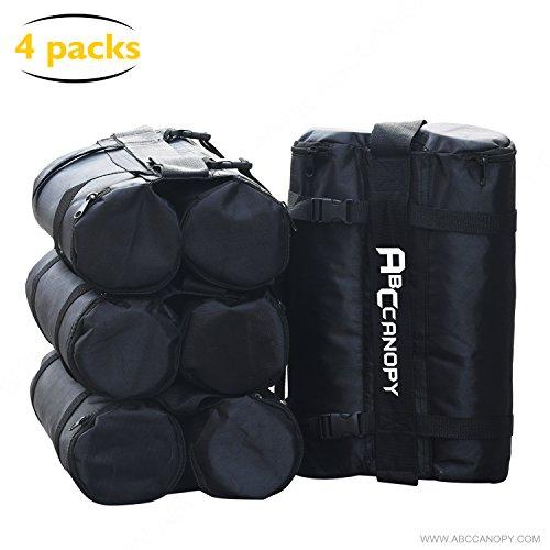 Abccanopy sacchetti-peso gazebo per gazebo, sacchi di sabbia per gazebo instant outdoor sun shelter gambe, 4-pack (nero)