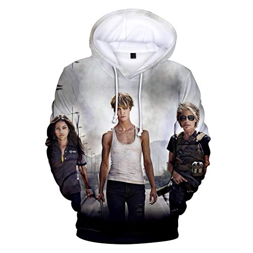 Mädchen Terminator Kostüm - RJHWY 3D Hoodie Sweatshirt Unisex Pullover Kapuzenjacke Kleidung Mantel HD Anime Top (XXS-3XL) Terminator Dark Fate XL
