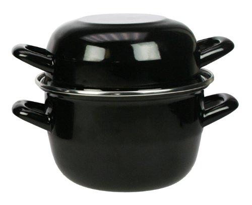 TheKitchenette - 3645567 Marmite à moules en Acier Émaillé, 2.7L