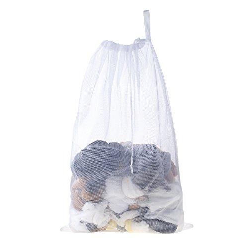 Aspire Mesh Wäschesäcke mit Kordelzug Schließung, Polyesternetz, weiß, Einheitsgröße (Aspire Mesh)