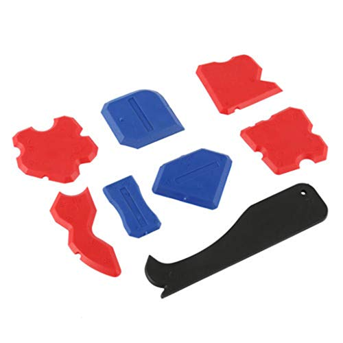 Xuthuly 8 Teile/Satz Hohe Stabilität Silikagel Versiegelung Spachtel Verstemmwerkzeug Kit Gelenk Silikon Fugenmörtel Entferner Schaber -