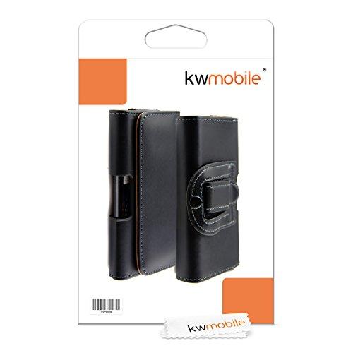 Elegante CUSTODIA DA CINTURA in pelle con pratica clip da cintura per Samsung Galaxy S3 i9300 in Nero, firmata kwmobile