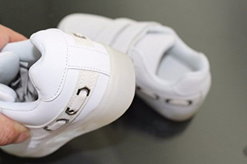 [Présents:petite serviette]JUNGLEST® Enfants fille garçon a mené la lumière jusquà formateurs de sneakers chaussures de sport Chaussures d white