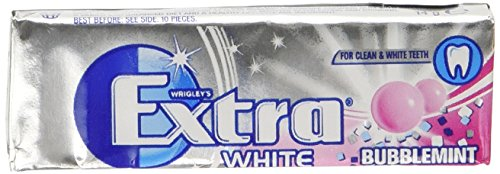 Wrigleys Extra White Bubblemint Chewing Gum (Pack Of