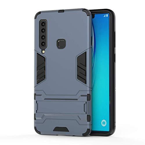 DAYNEW für Huawei Honor 9X Pro Hülle,2 in 1 Stoßfest Rüstung Armour Langlebig Ultra Dünne Stent Hard Shell Mischen Schutz Case Cover für Huawei Honor 9X Pro-Navy blau -