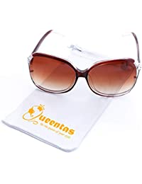 Queentas Shades Lunettes de soleil surdimensionnées élégantes pour dames ... 80b1a3c11e5e