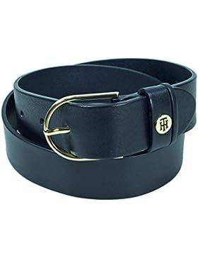 Tommy Hilfiger Damengürtel CLASSIC Belt Blau AW0AW04412-413 Jeansgürtel Jeans Leder Gürtel Ledergürtel