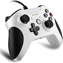 Xbox One Wired Controller, ELTD Controller Wired Joysticks Gamepad for Xbox One / Xbox One S and PC (Windows XP/WIN 7/WIN 8/WIN 10), White