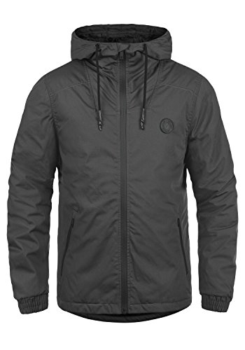 !Solid Tilden Sporty Herren Übergangsjacke Herrenjacke Jacke Mit Kapuze, Größe:XXL, Farbe:Dark Grey (2890)