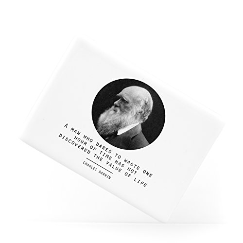 Value of Life Charles Darwin Quote Origin of Species Evolution Atheist Keramik-Kühlschrankmagnet