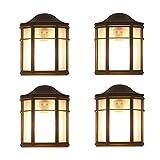 Wandleuchte 25 cm, E27 Wandleuchte Retro Landhausstil, antike Outdoor Wandleuchte, klassische Form der Terrassenbeleuchtung, braune Wandleuchte, IP23 (Design : 3)