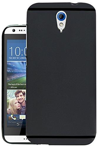 Jkobi Matte+ Ultra Protection Rubberised Soft Back Case Cover for HTC Desire 620/620G Dual Sim -Black