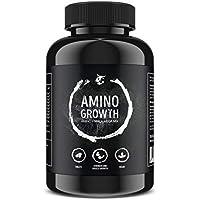 Preisvergleich für AMINO GROWTH 150-450 Tabletten (Vegan) | Hochdosiert mit 5000 mg/Portion | Aminosäuren Komplex mit Maca & Vitamin...