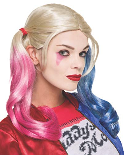 Rubie's 333608 - Harley Quinn Sucide Squad Perücke, Action Dress Ups und Zubehör, One Size (Dc Women's Harley Quinn Kostüm)